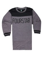 Playera Fourstar League Football 3/4 Gun Metal