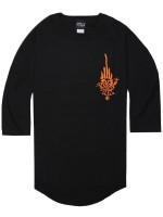 Playera Independent Jessee Raglan 3/4 Black Black