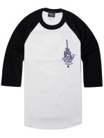 Playera Independent Jessee Raglan 3/4 White Black