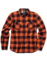 Camisa Primitive Herringbone Buffalo M/L Orange Black