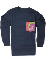 Playera Spitfire Bighead Pocket M/L Tie Dye Navy