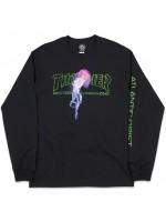 Playera Thrasher Atlantic Drift M/L Black