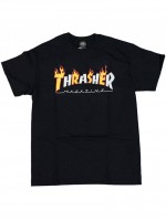 Playera Thrasher Flame Mag Black