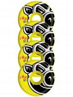 Ruedas Pig Wheels Pig Head Conical Yellow 51mm