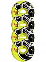 Ruedas Pig Wheels Pig Head Conical Yellow 52mm