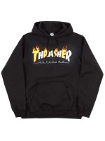 Sudadera Thrasher Flame Mag Black