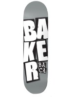 Tabla Baker Stacked Name Sammy Baca Grey 8.25""
