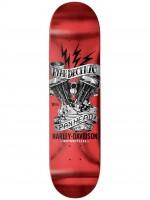 "Tabla Darkstar Panhead Harley Davidson Ryan Decenzo Red 8.25"""