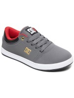 Tenis Dc Crisis Grey Black Red Niño