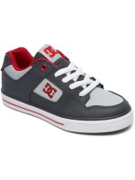 Tenis Dc Pure Grey Grey Red Niño
