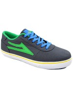 Tenis Skate Lakai Kids Manchester Grey Green Canvas