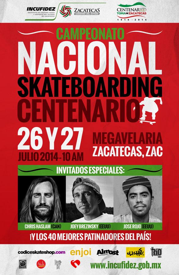 Chris Haslam en México Campeonato Nacional Skate Centenario Zacatecas