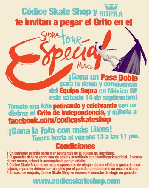 Códice Skate Shop y Supra Tour México