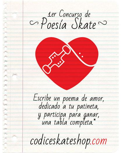 1er Concurso de Poesía Skate