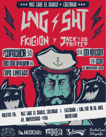 Este 24 de Junio LNG SHT en Más Sabe el Diablo CULTUBAR, Querétaro